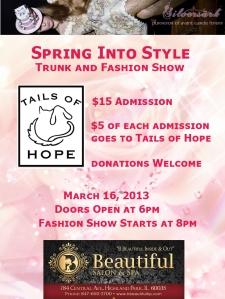 spring fashion show flyer