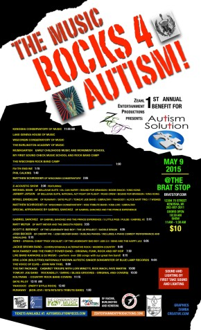 Today's Event – The Music Rocks 4 Autism! – 1st Annual Benefit for Autism Solution Pieces